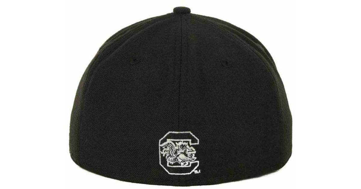 timeless design 60ff5 d8ccc KTZ South Carolina Gamecocks Black On Black With White 59Fifty Cap in Black  for Men - Lyst