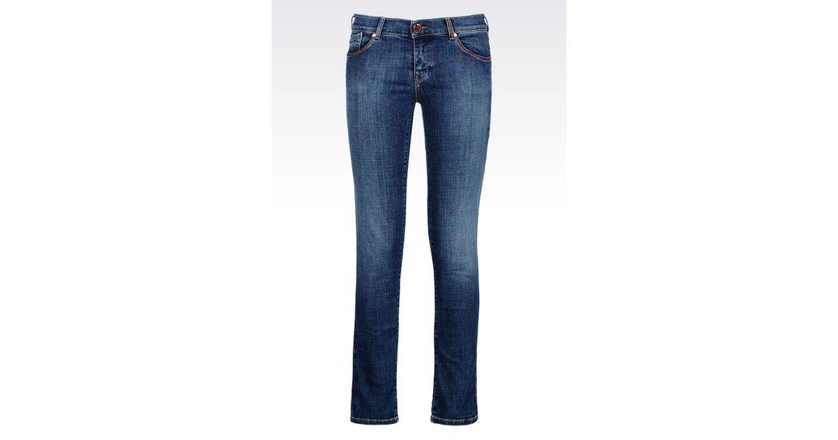 1f912e71 Armani Jeans Blue Medium Light Wash Used Effect Push Up Jeans