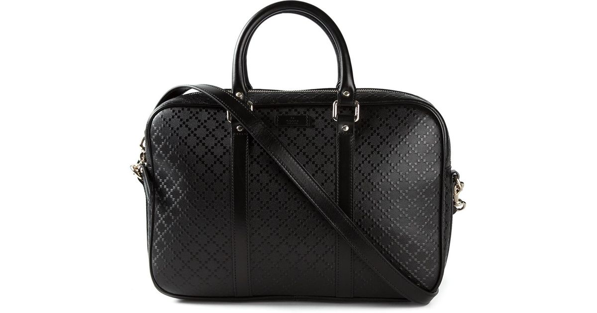 3f395555eab10c Gucci 'Bright Diamante' Laptop Bag in Black for Men - Lyst