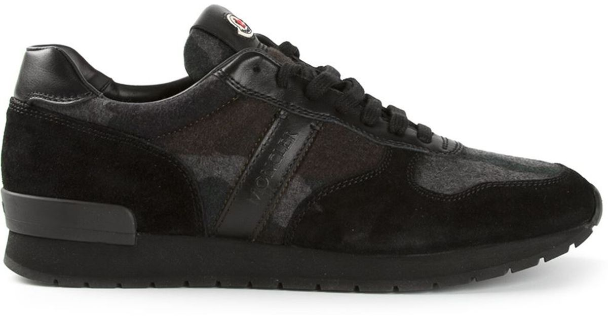 Moncler Contrast Camouflage Trainers in