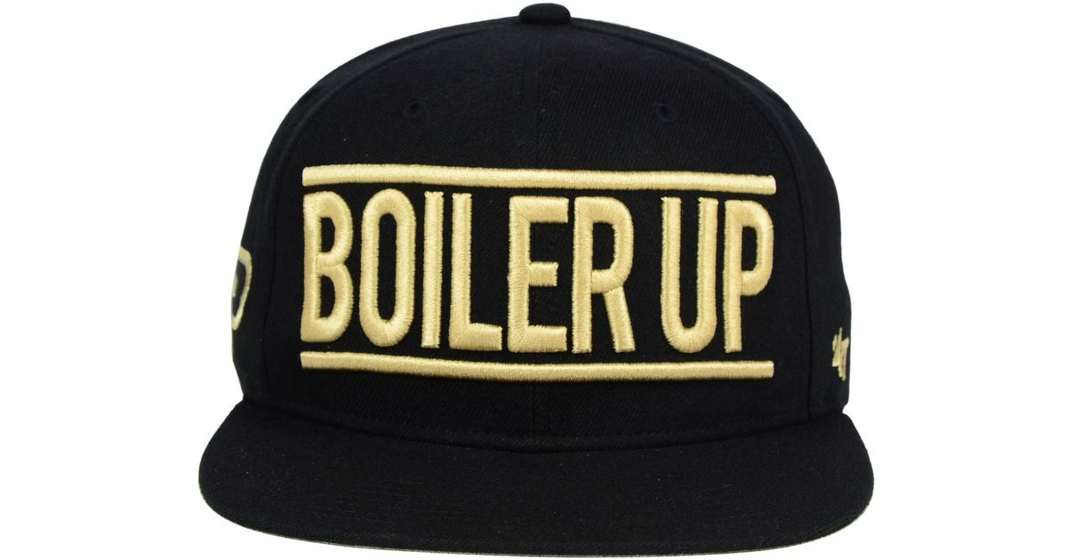 brand new 7be73 cb5ed ... new zealand lyst 47 brand purdue boilermakers on track snapback cap in  natural for men f1e98