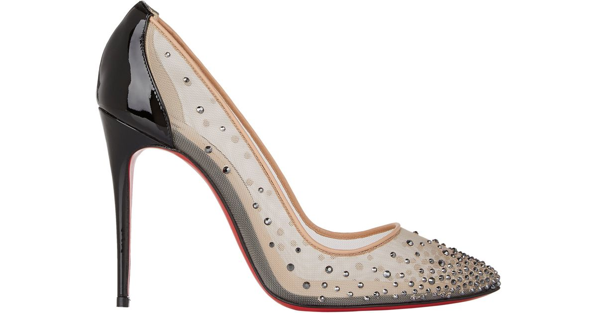 506c6126370 Christian Louboutin Multicolor Crystal-Embellished Follies Strass Pumps