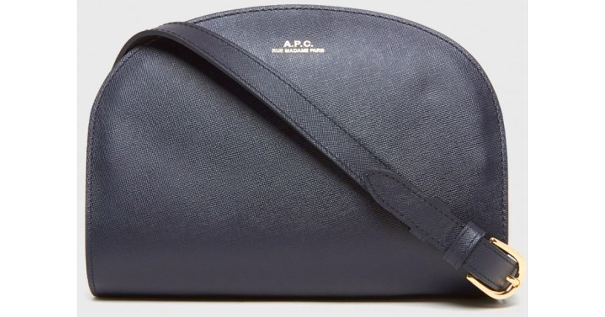 a p c half moon bag in blue lyst. Black Bedroom Furniture Sets. Home Design Ideas