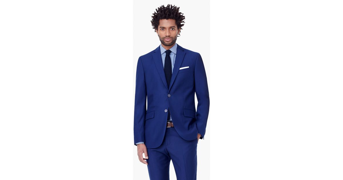 Mango Ticket-pocket Pattern Suit Blazer in Blue for Men | Lyst