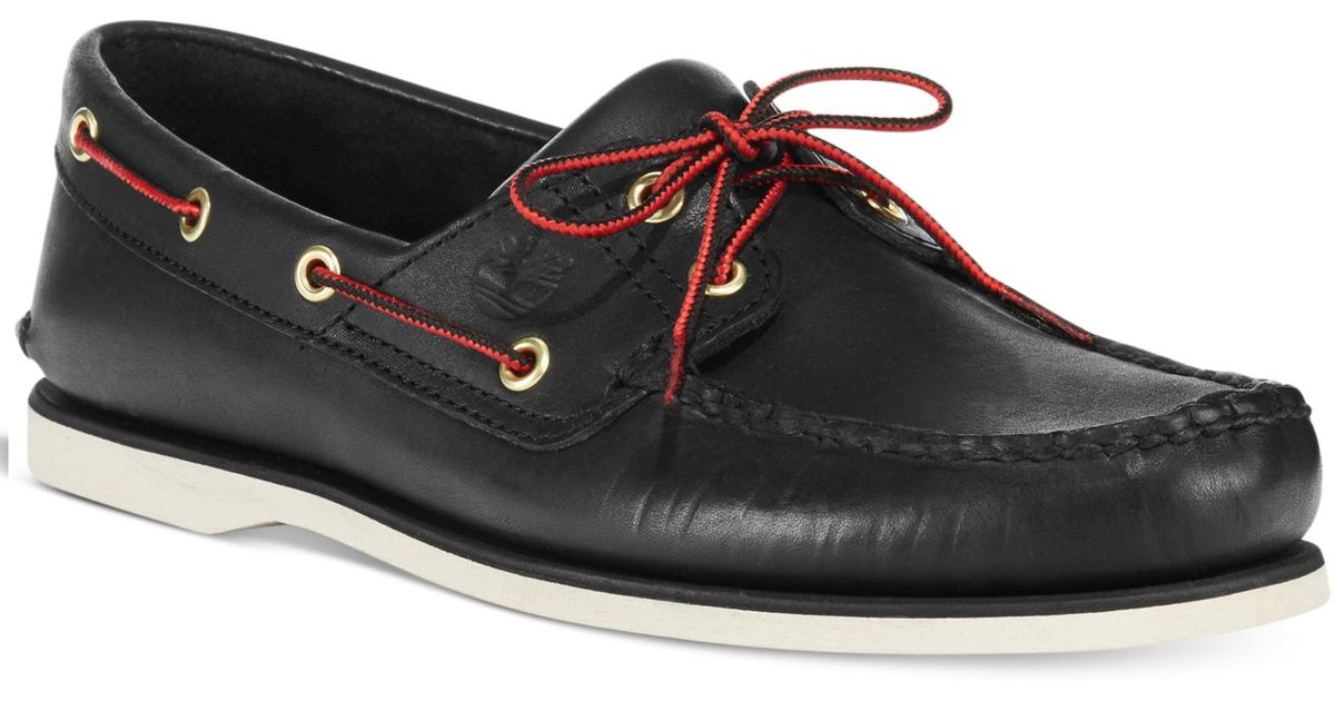 b1a8856ca316 Lyst - Timberland Men s Classic 2-eye Boat Shoes in Black for Men