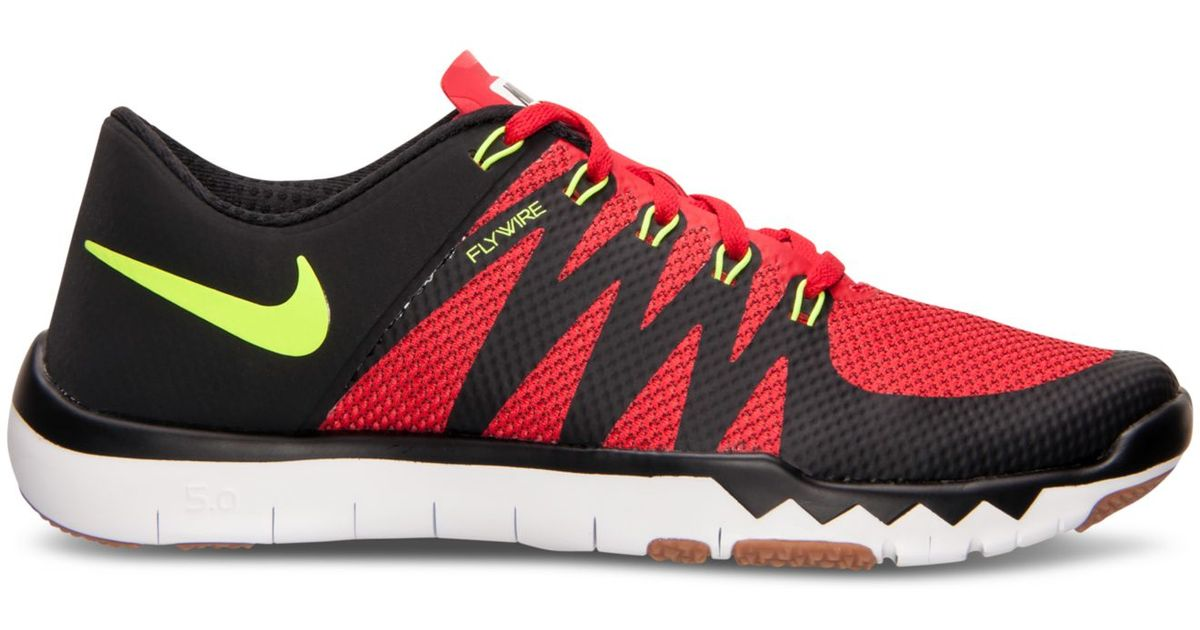 dbb682281a08 Lyst - Nike Men s Free Trainer 5.0 V6 Training Sneakers From Finish Line in  Red for Men