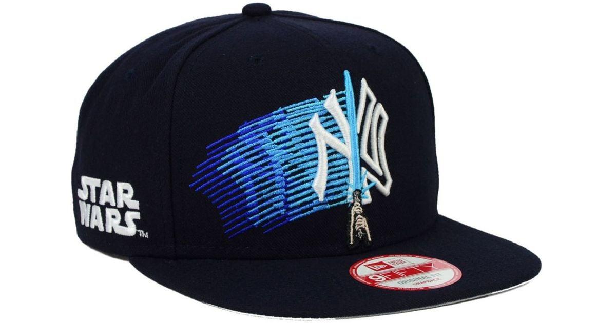 94ca6de251 KTZ New York Yankees Star Wars Logoswipe 9fifty Snapback Cap in Blue for  Men - Lyst