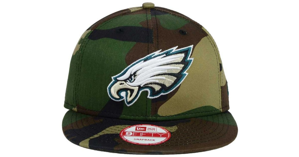 newest collection fd499 e193b Lyst - KTZ Philadelphia Eagles Woodland Camo Team Color 9Fifty Snapback Cap  in Green for Men