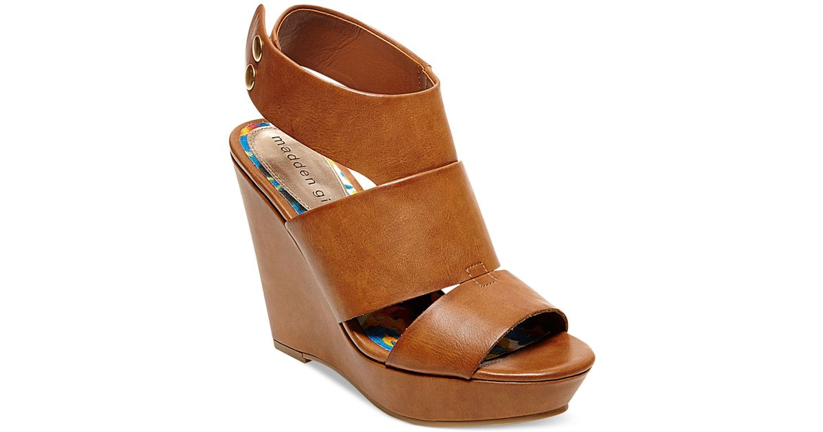 Sandals Brown Kilter Girl Platform Wedge Madden OXiPuTkZ