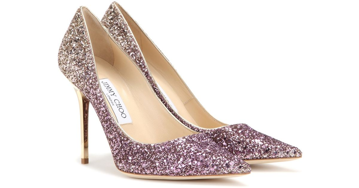 buying new new york special section Jimmy Choo Purple Agnes Ombré Glitter Pumps