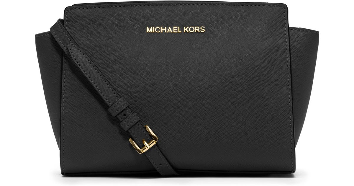 a7be2ddfd37d45 ... ireland lyst michael kors selma medium messenger bag in black fe88c  976bd