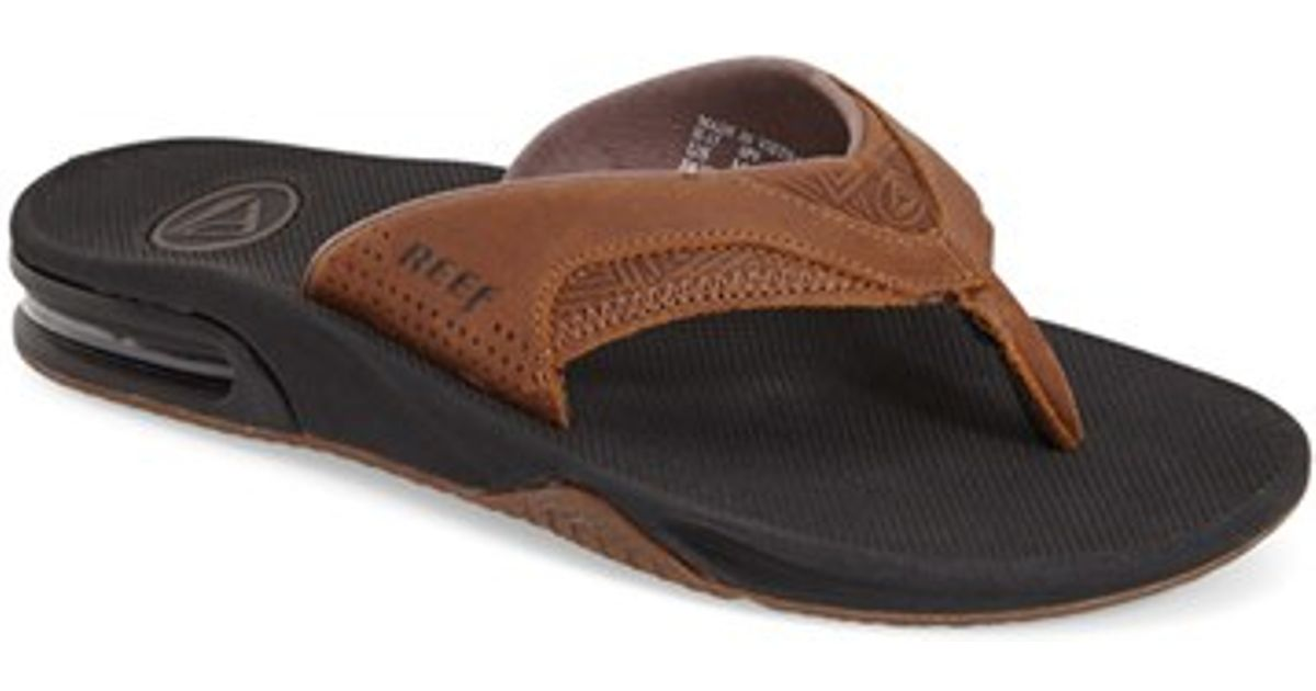 959e384d54b5 Reef  fanning Leather  Flip Flop in Brown for Men - Lyst