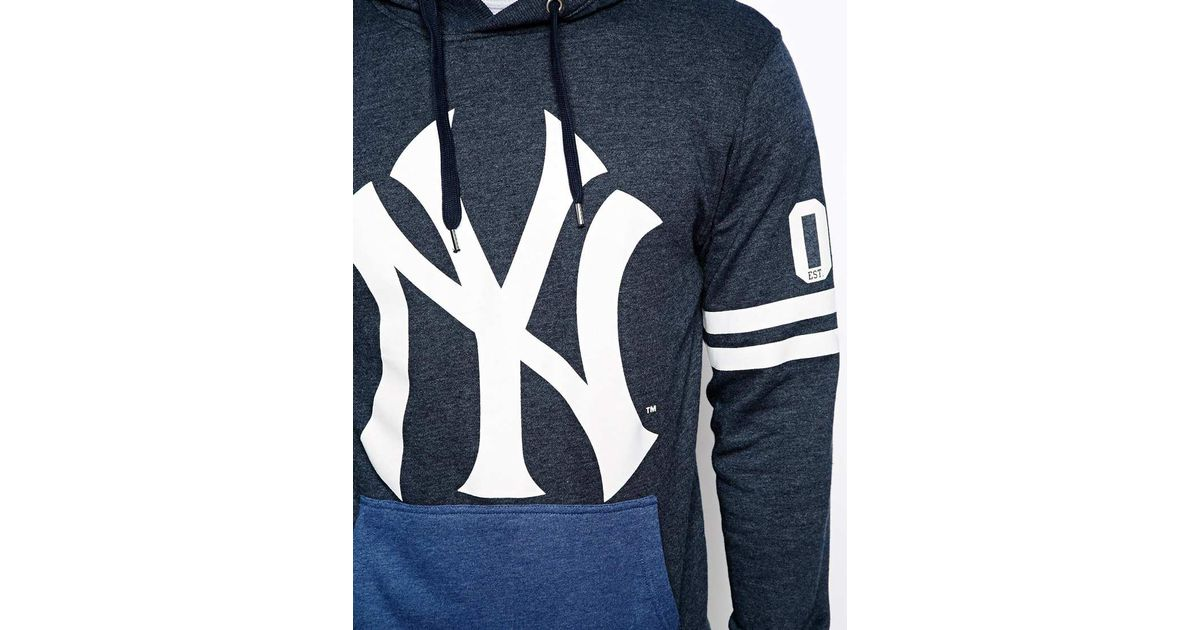new products 43f4a 7006f Majestic Blue Ny Yankees Hoodie for men