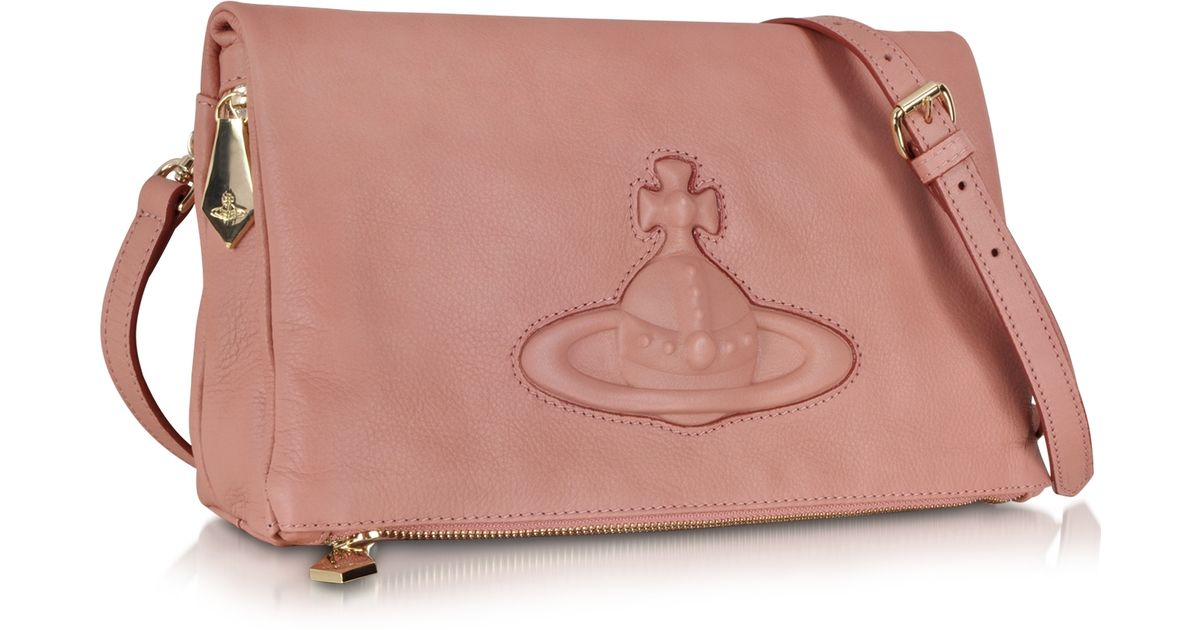 c1a1489ddda Lyst - Vivienne Westwood Pink Leather Chelsea Crossbody Bag in Pink