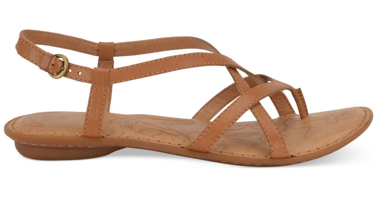 93a657b74628 Lyst - Born Mai Flat Sandals in Brown