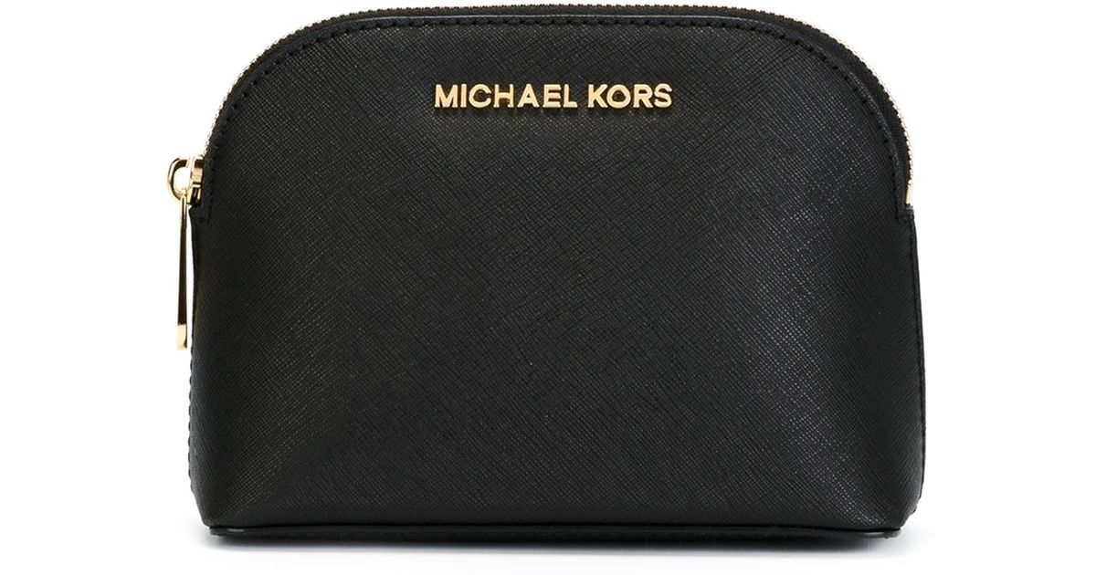ce6b35f6c9a9 Lyst - MICHAEL Michael Kors Cindy Makeup Bag in Black