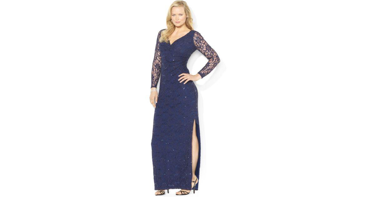 Ralph Lauren Plus Size Evening Dress