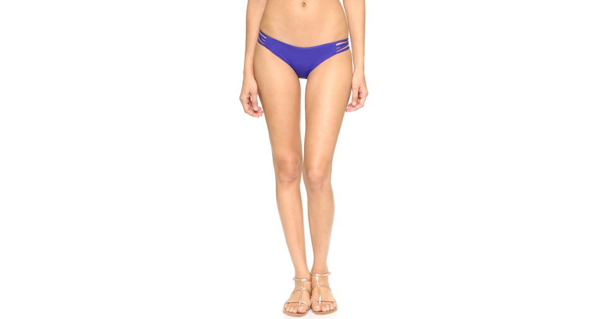 L Space Low Down Bikini Bottoms In Blue Lyst