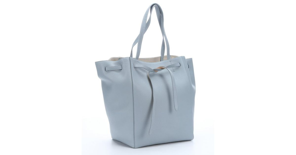 Lyst Céline Light Blue Calfskin Medium Cabas Phantom Tote Bag In