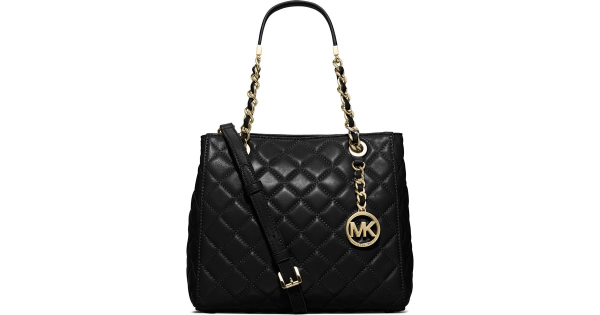 79e4fccfc52981 MICHAEL Michael Kors Susannah Small Quilted Tote Bag in Black - Lyst