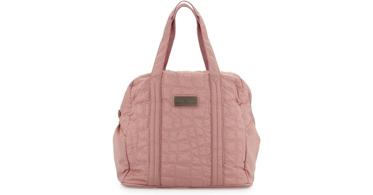 d82d19b7db86 Adidas By Stella McCartney Pink Quilted Tech-fabric Essential Gym Bag