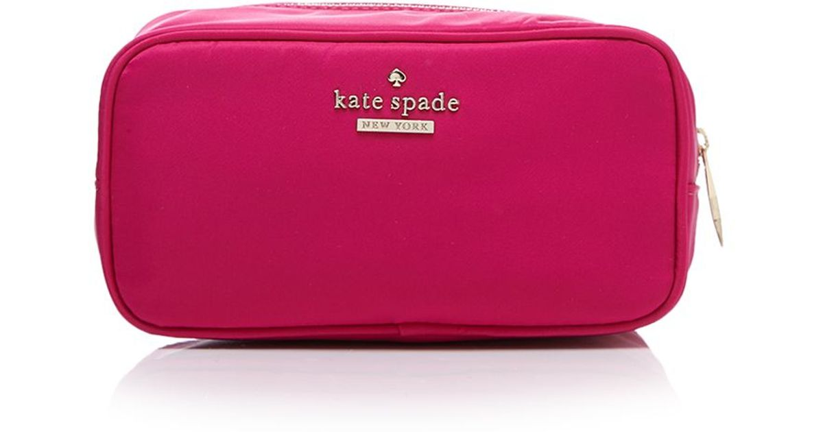 outlet store c1182 a4bb5 kate spade new york Pink Cosmetic Case - Classic Nylon Ezra