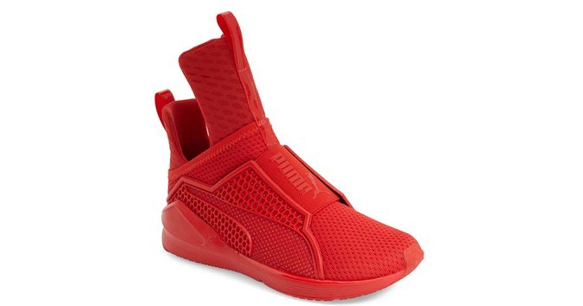 PUMA Fenty Mesh High-Top Sneakers in