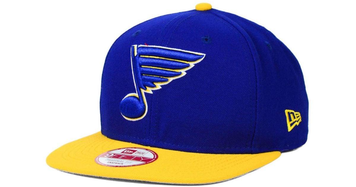 01ef960b5669f2 ... canada lyst ktz st. louis blues prop 9fifty snapback cap in blue for  men 785b1