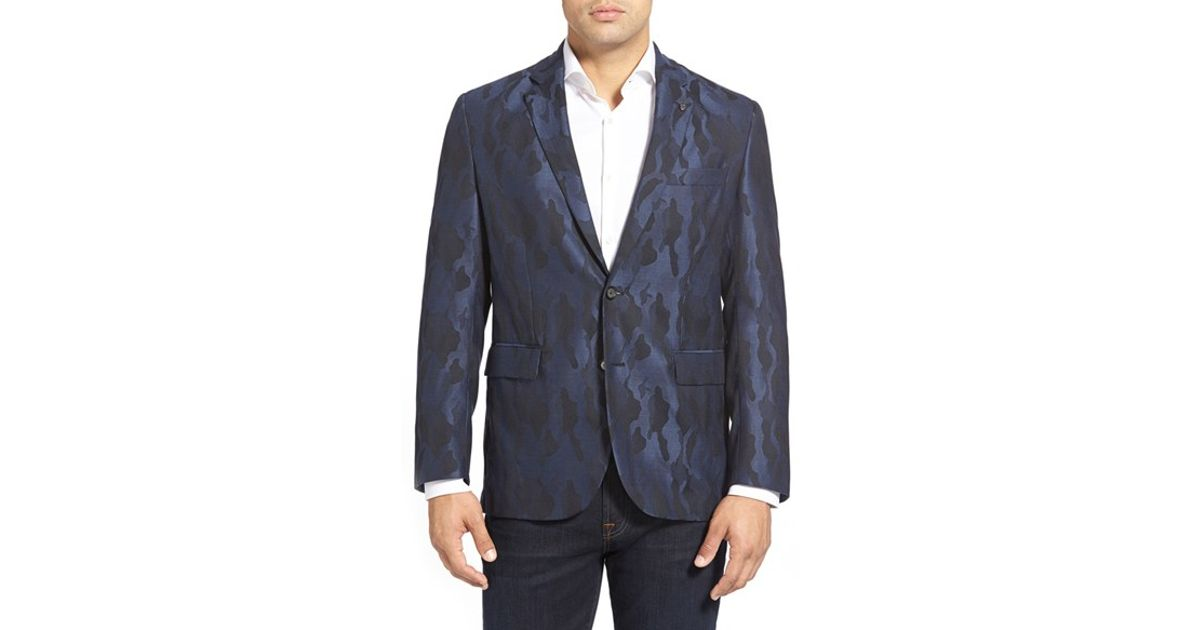 3ffbc68dc5b2a Robert Graham 'albert Bridge' Regular Fit Camo Sport Coat in Blue for Men -  Lyst