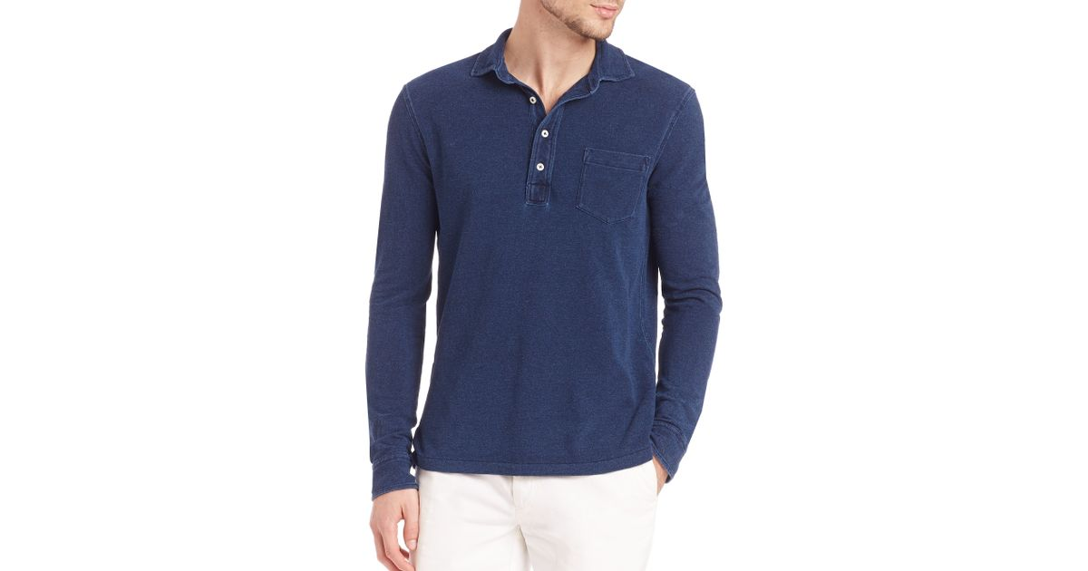 7011a53d8 Polo Ralph Lauren Featherweight Mesh Estate Shirt in Blue for Men - Lyst