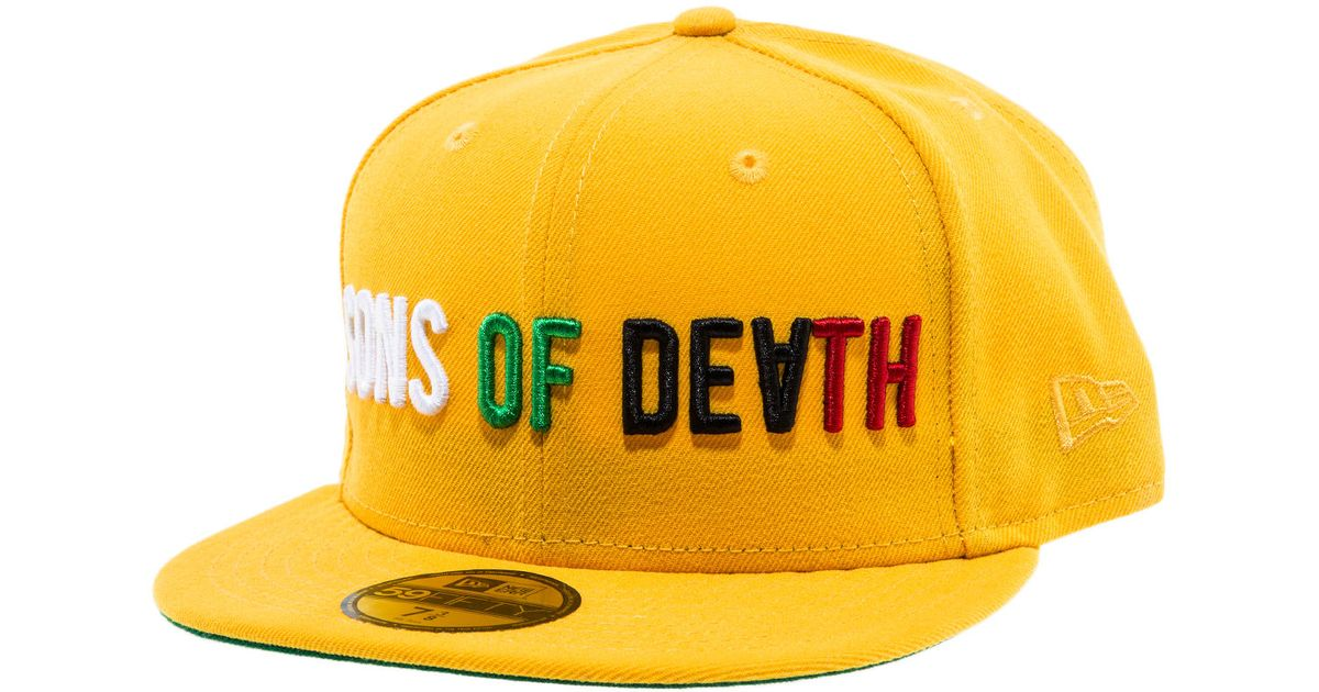 Lyst - Black Scale The Sons Of Death Fitted Hat in Yellow for Men 18cdd193ce9