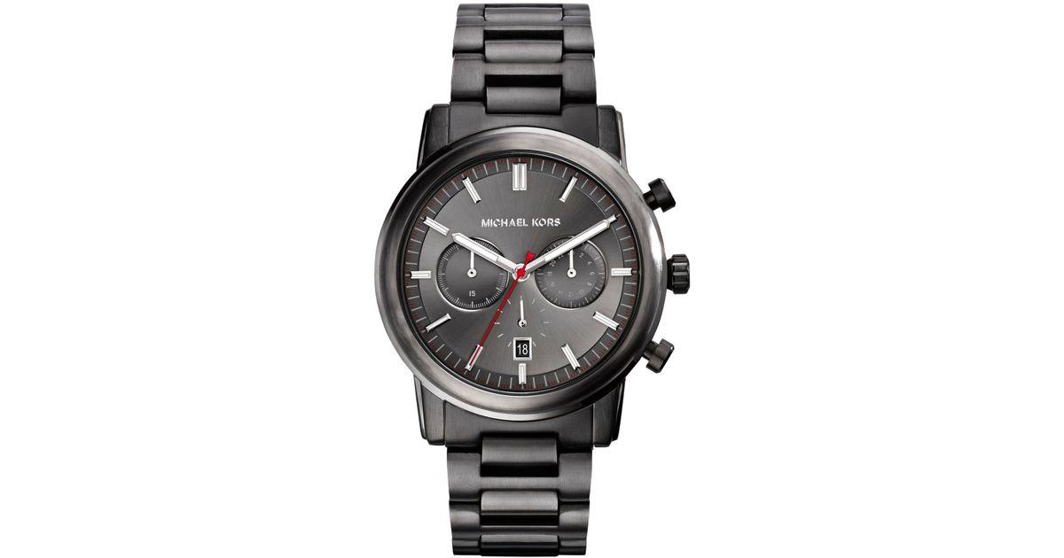 56997160dc987 Lyst - Michael Kors Pennant Gunmetal Watch in Metallic for Men