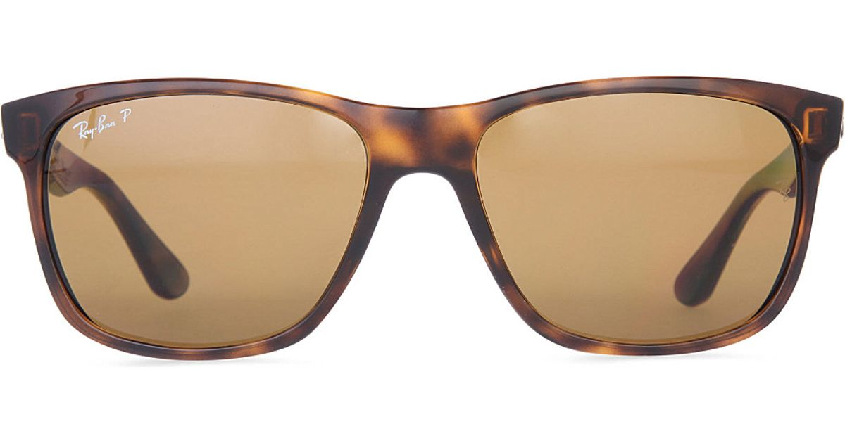 75f6afff6812 ... get ray ban light havana square frame sunglasses with brown gradient  lenses rb4181 57 in 67508