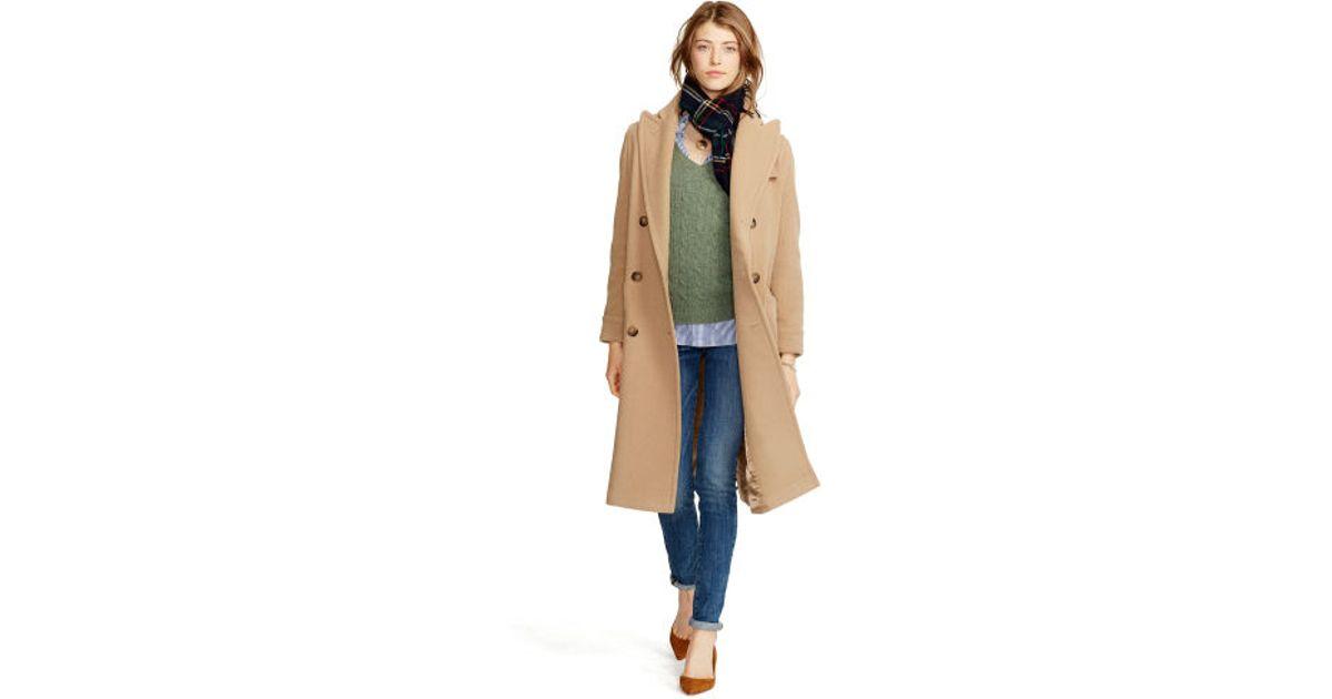 d75466c6e796 Lyst - Polo Ralph Lauren Camel Hair Coat in Brown