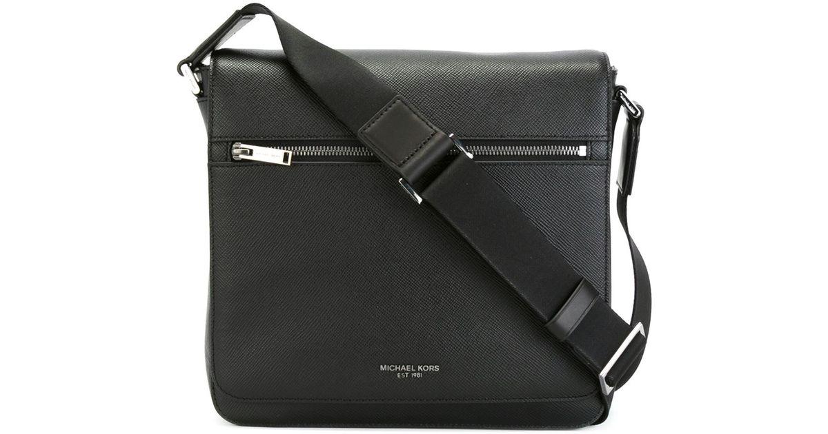 c2815a7af11e3 Lyst - Michael Kors Medium  harrison  Messenger Bag in Black for Men