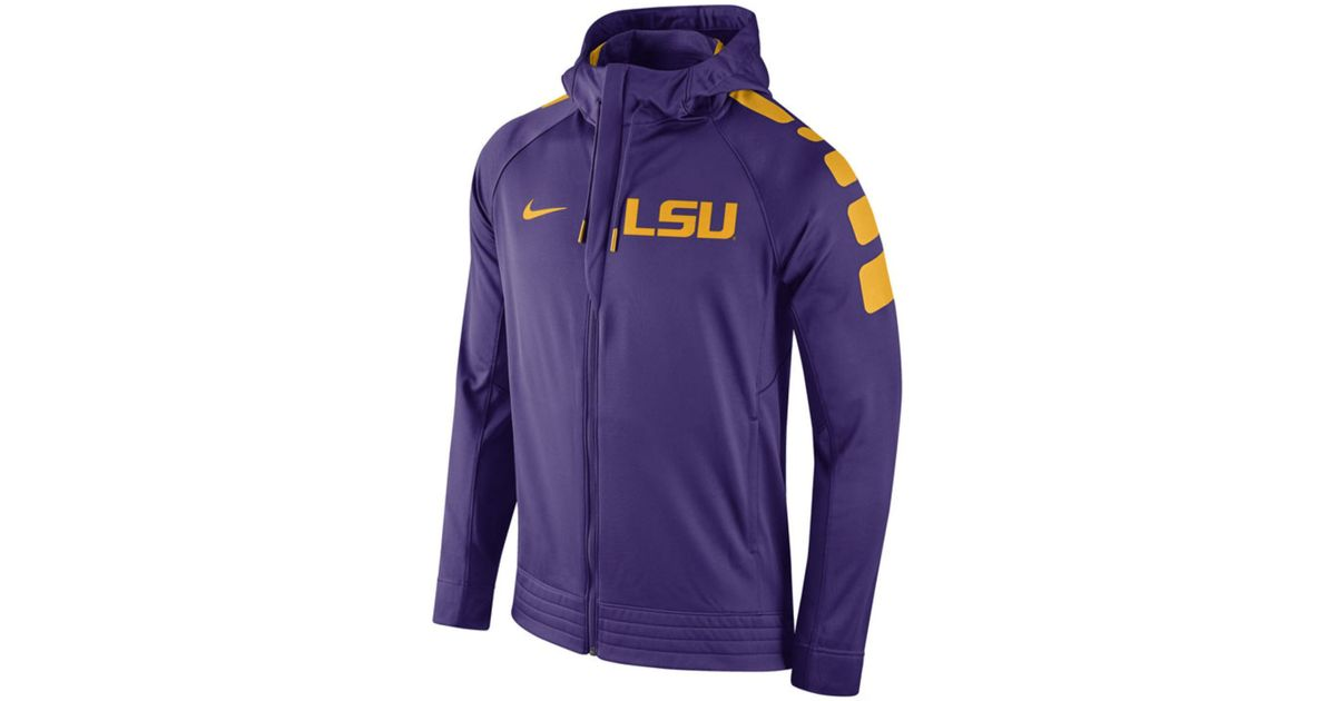 35536517235 Lyst - Nike Men s Lsu Tigers Elite Stripe Basketball Performance Full-zip  Hoodie in Purple for Men