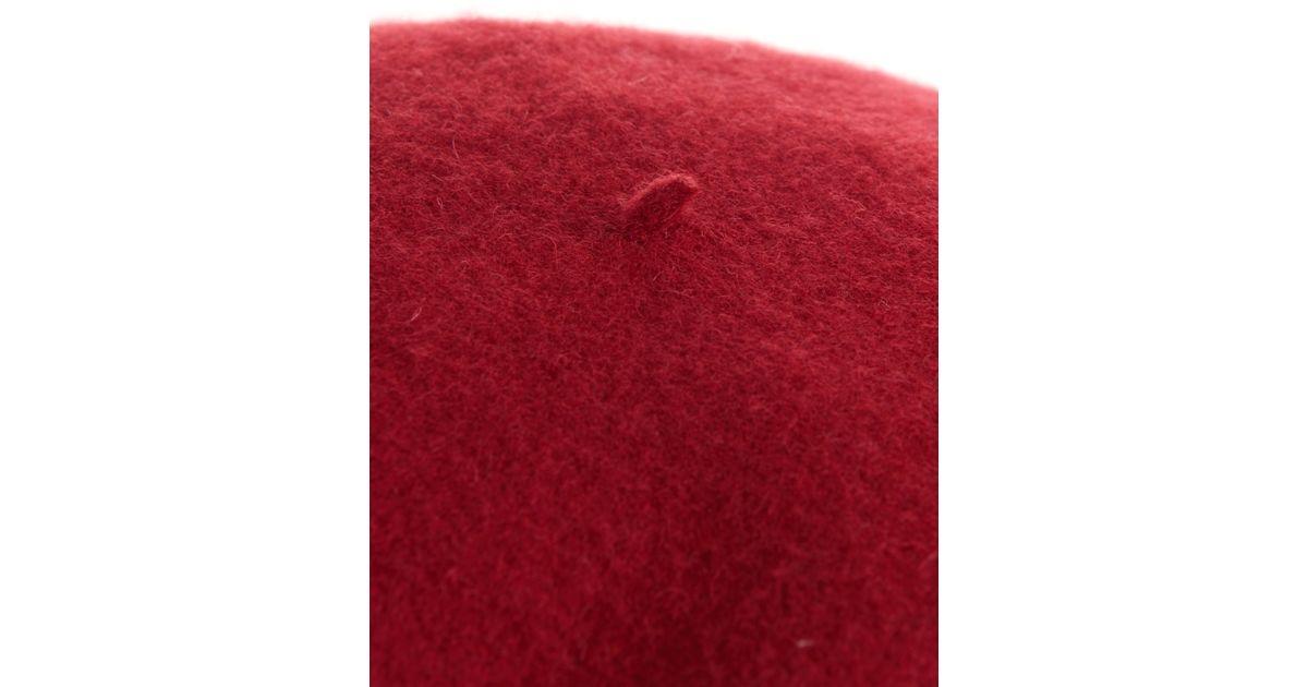 872632f073 Gucci Red Wool-Felt Beret Hat