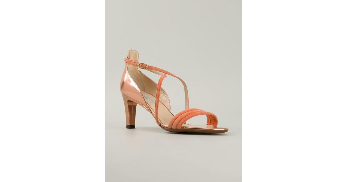 f236475c064 L'Autre Chose Orange Kitten Heel Strappy Sandals