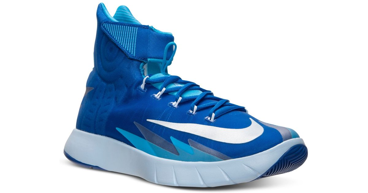e27e48fc0b3e84 ... clearance lyst nike mens zoom hyperrev basketball sneakers from finish  line in blue for men 36b75