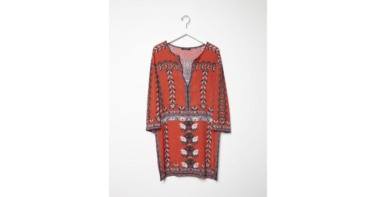 Khaki Wilby Wavy Vintage Dress Isabel Marant N32vVXR3
