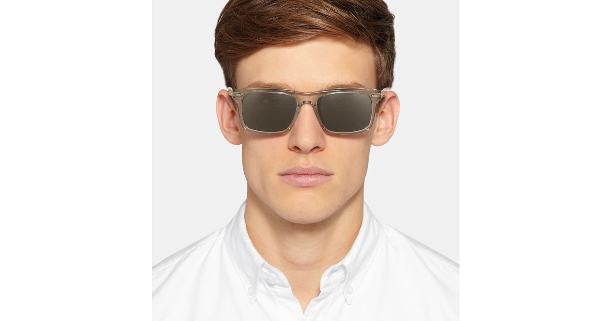 3c39598ff9 Oliver Peoples Brodsky Square-frame Acetate Polarised Sunglasses in Gray  for Men - Lyst