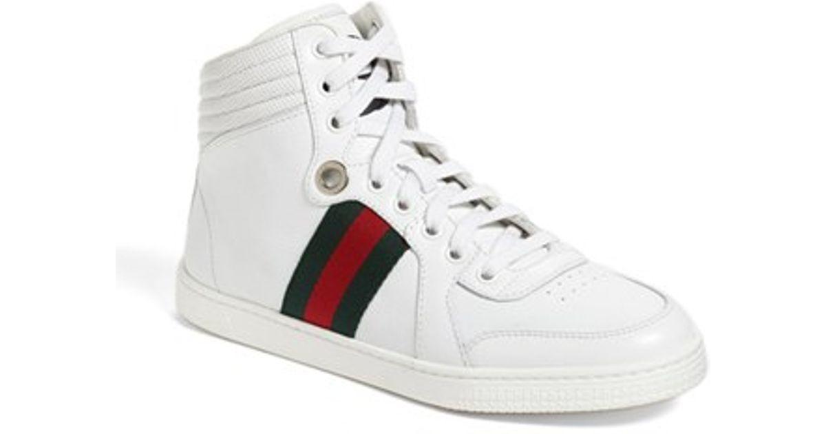 Lyst - Gucci  coda  High Top Sneaker in White 5628a1cdd