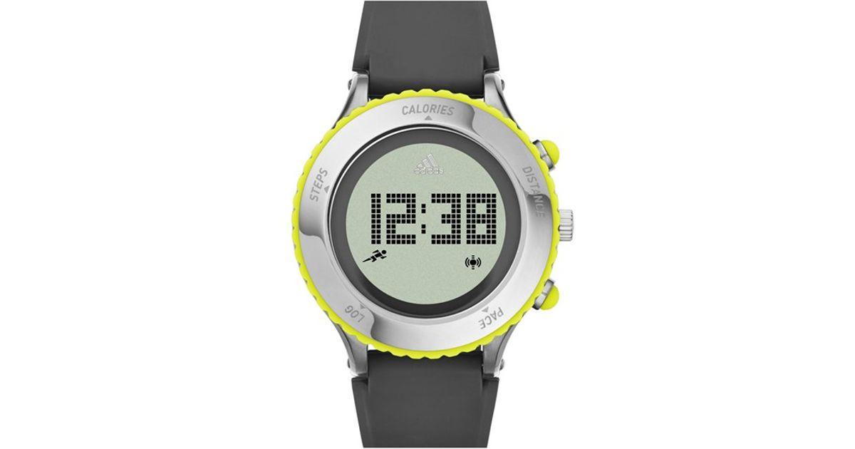Lyst adidas originals 39 urban runner 39 digital watch in gray - Wanduhr digital groay ...