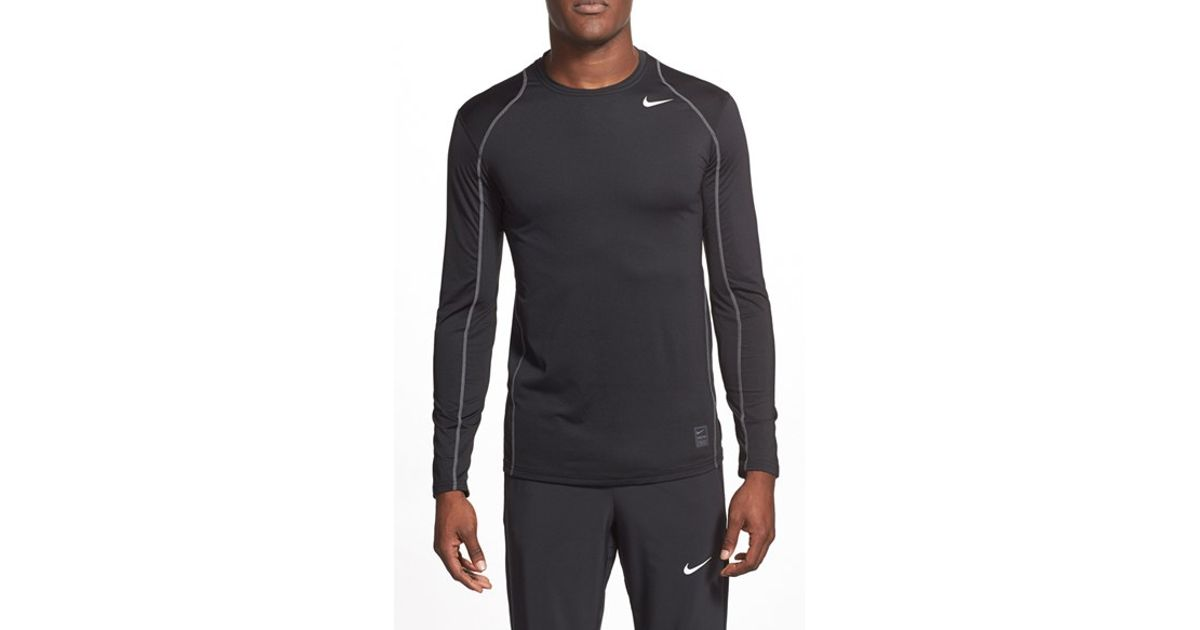 Nike 39 pro cool compression 39 fitted long sleeve dri fit t for What is a fitted t shirt