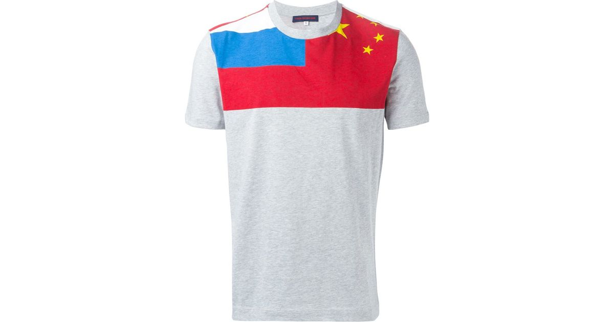 048cdde99c3d05 Gosha Rubchinskiy Flag Print T-Shirt in Gray for Men - Lyst