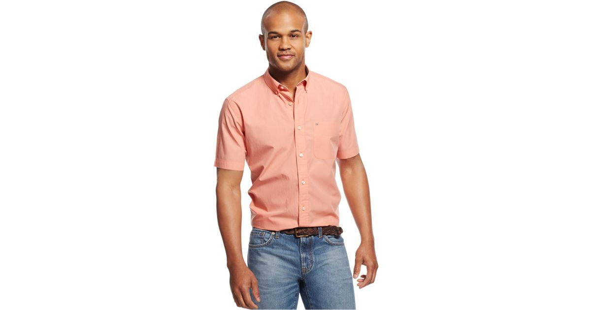2974ba77c242 Lyst - Tommy Hilfiger Short-sleeve Maxwell Shirt in Pink for Men