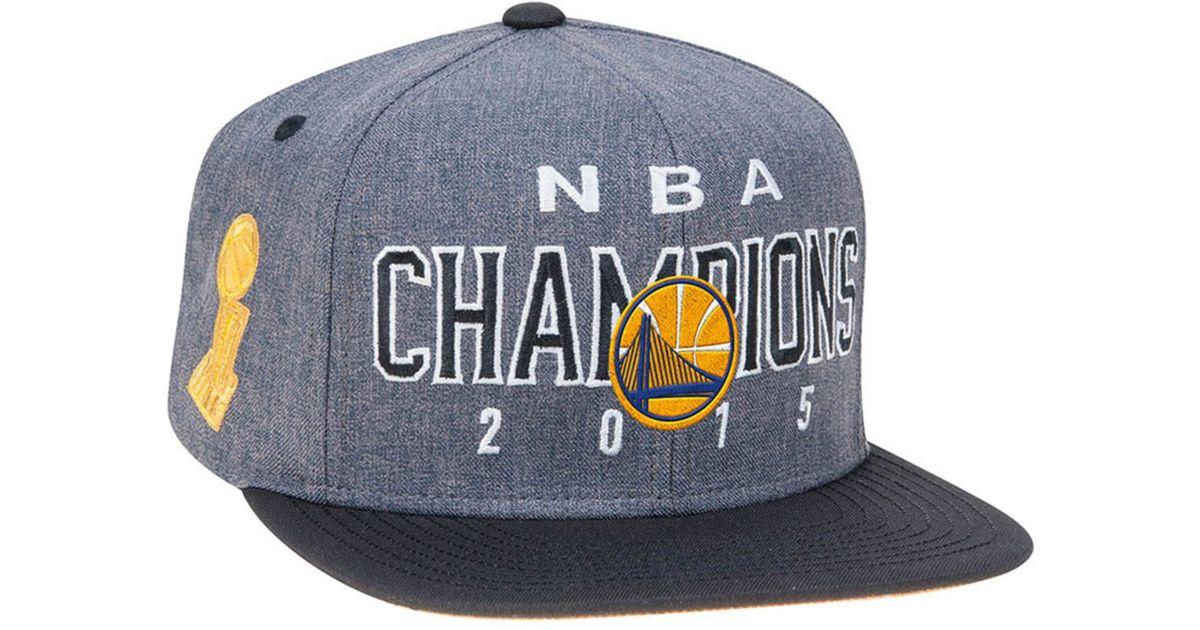 398dc73d adidas Golden State Warriors Nba Finals Champ Snapback Cap in Black for Men  - Lyst