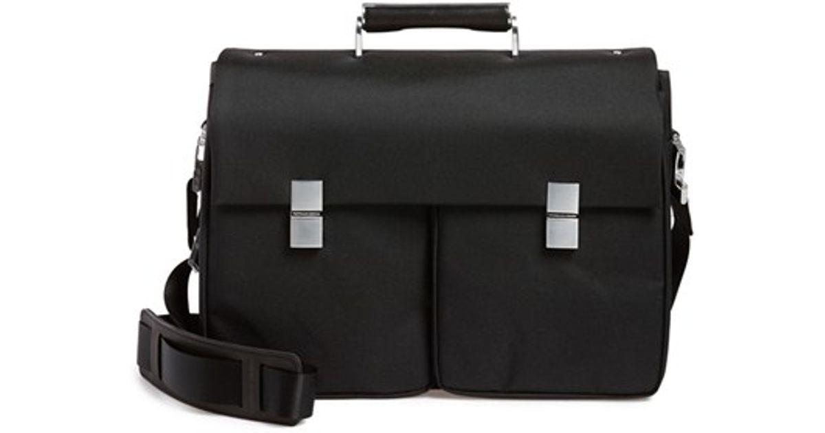 porsche design 39 roadster 3 0 39 briefcase in black for men. Black Bedroom Furniture Sets. Home Design Ideas
