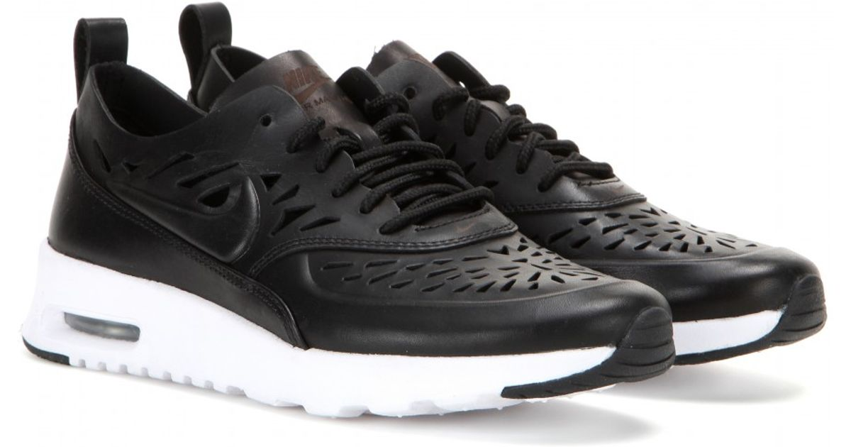 Nike Black Air Max Thea Joli Laser Cut Leather Sneakers