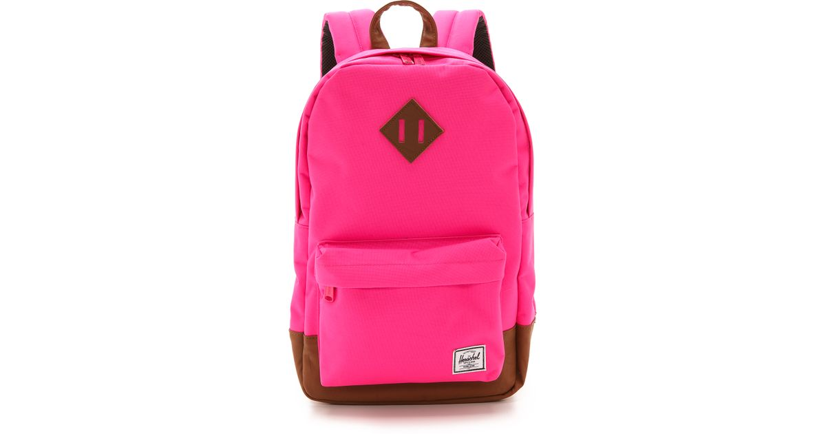 0693ff728f12 Lyst - Herschel Supply Co. Heritage Mid Backpack Neon Pink in Pink